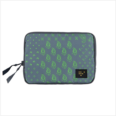 FAMILY PASSPORT POUCH_Gray Paisley