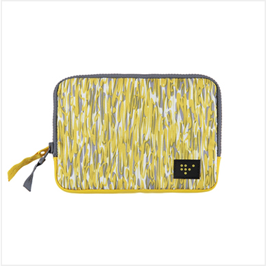 FAMILY PASSPORT POUCH_Yellow wave