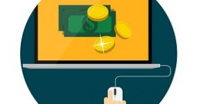 Pay Per Click Flat Concept for Web Marketing. Vector Illustration